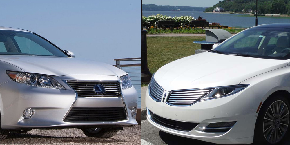 comparatif lexus es300h 2013 vs lincoln mkz hybrid 2013. Black Bedroom Furniture Sets. Home Design Ideas